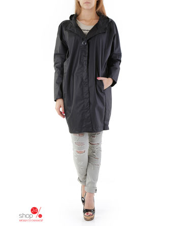 Тренч Sexy Woman, цвет черныйТренчи, плащи<br>MADE IN ITALY: solid color, long sleeves, buttons, multipockets, hood.<br><br>Цвет: черный