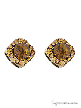 Серьги AtStyle247, цвет Brown,Gold