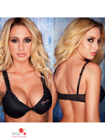 Бюстгальтер push up Hustler Lingerie, цвет черный