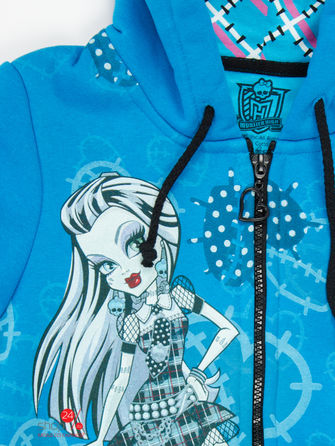 Толстовка Monster High, цвет синий