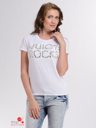 Футболка Juicy Couture, цвет белый