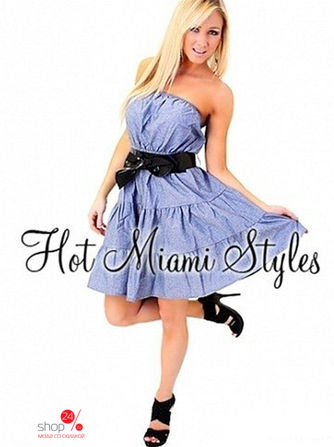 Платье Hot Miami Styles, цвет голубой
