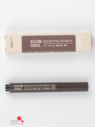 Помада для губ матовая Eco Soul KISS Button Lips Matte 04 Cool Smile 2 Saem