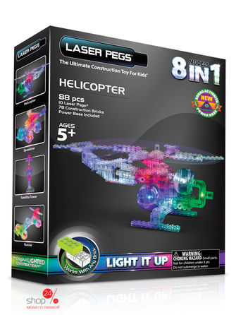 "Набор 8 в 1 ""Вертолет"" Laserpegs, цвет"