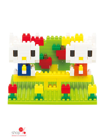 Конструктор Hello Kitty и Mimmy в парке Nanoblock костюм китти hello kitty