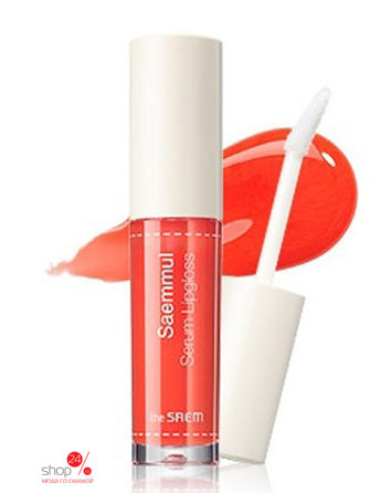 Блеск для губ saemmul serum lipgloss OR01 The Saem тинт для губ the saem saemmul real tint