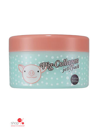 Ночная маска для лица PIG-COLLAGEN JELLY PACK, 80 г Holika Holika маска holika holika ночная маска для лица пиг коллаген джелли пэк holika holika