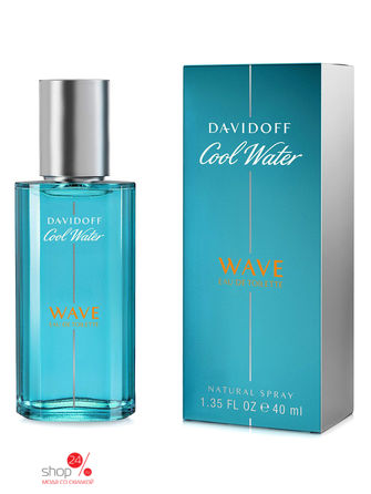 Туалетная вода Cool Water Wave, 40 мл Davidoff davidoff туалетная вода cool water 40 мл