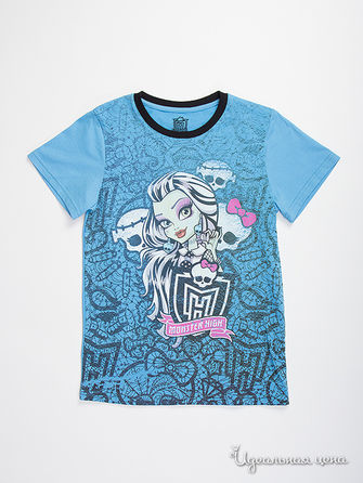 Футболка Monster High, цвет голубой