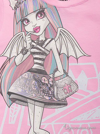 Футболка Monster High, цвет розовый
