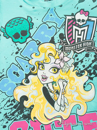 Футболка Monster High, цвет зеленый