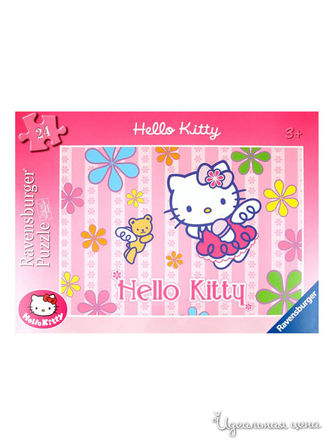 "Паззл ""Hello Kitty and the Teddy Bear""  24 элементов Ravensburger, цвет"